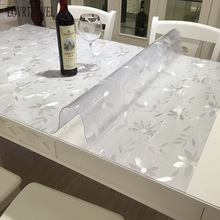 Transparent PVC Tablecloth Oil-Glass Carpet-Pattern Kitchen Waterproof And Non-Slip