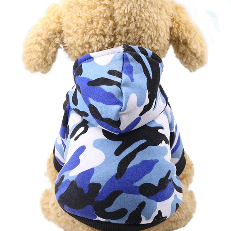 Dog Clothes Winter Pet Jacket Cotton Warm Camouflage Vest For Small Dogs Puppy Coat French Bulldog Clothing Cat Suit overalls in Dog Coats Jackets from Home Garden