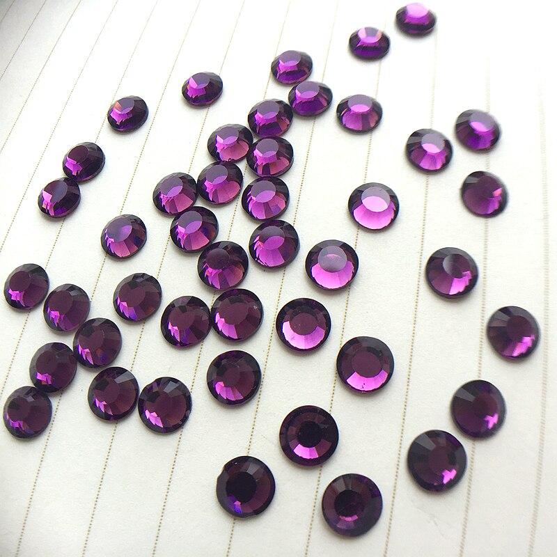 Crystal Deep purple 1440 unids plana de perforación en caliente DIY - Artes, artesanía y costura