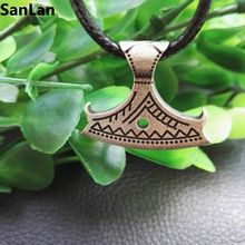 1pcs new arrival men pendant antique Silver plated AXE PENDANT Slavic God Perun SanLan