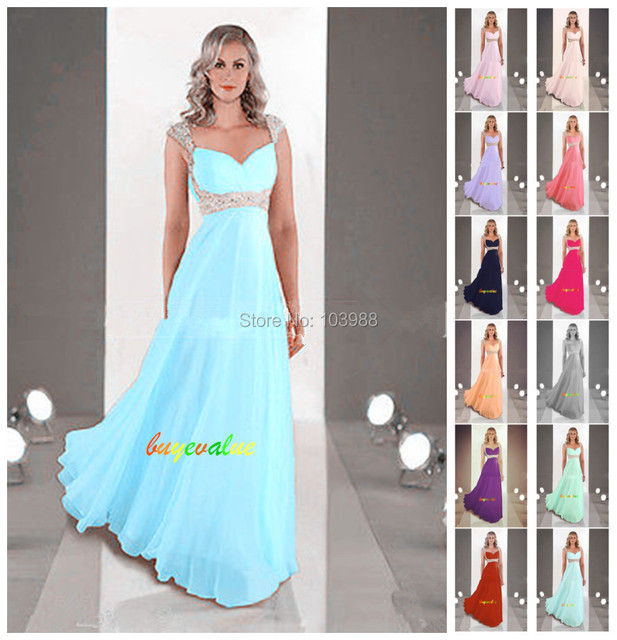2016 New Bridemaid / evening / prom / vestido de festa com apliques em estoque size ( 8 tamanhos para escolher )