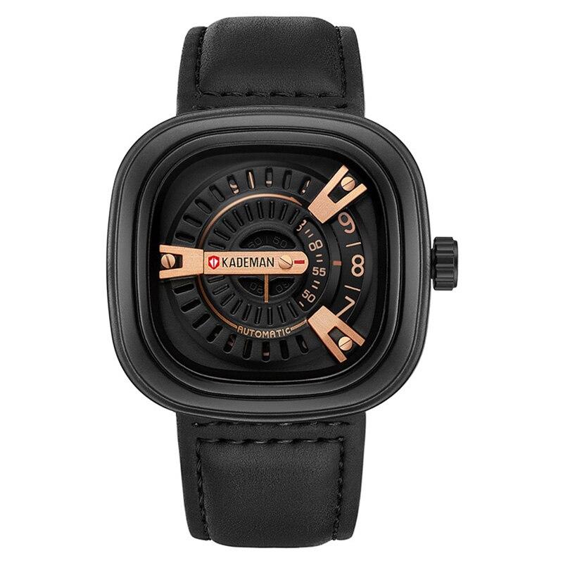 KADEMAN Men Watches Fashion Luxury Brand Quartz Analog Male Sports Watch Waterproof Clock Leather Wristwatches Relogio Masculino цена 2017