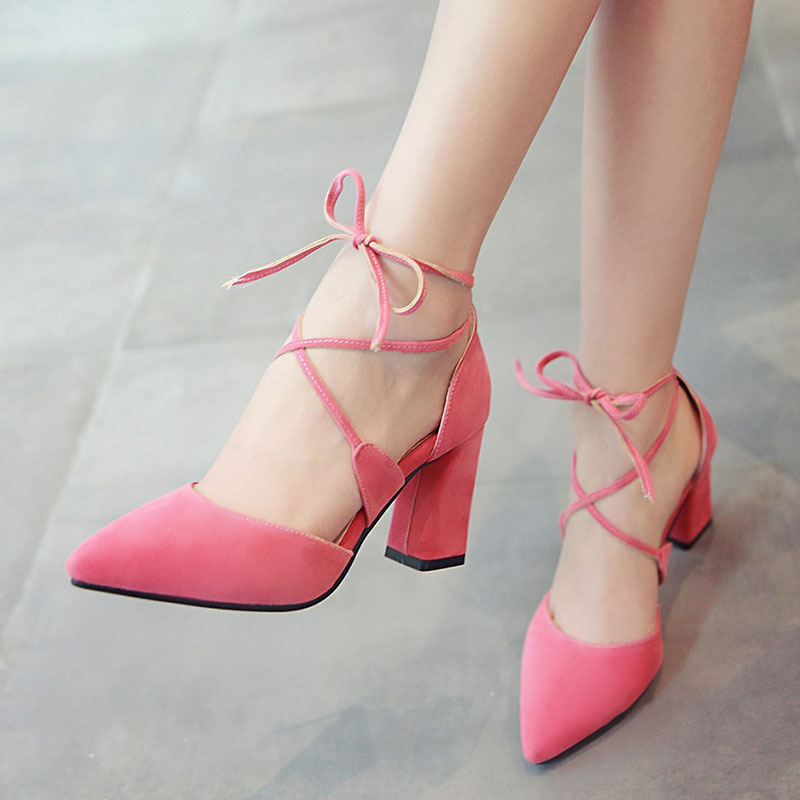 Popular Pink Thick Heels-Buy Cheap Pink Thick Heels lots from