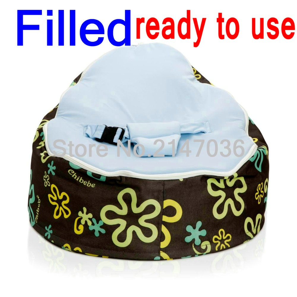 FILLED WITH BEANS baby bean bag chair, Splash kids toddlers beanbag sofa,blue harness seat cover bean bag lounger, kids game bag domestic beige baby seat and sofa with 2 top covers nice quality baby infant bean bag cheap sale