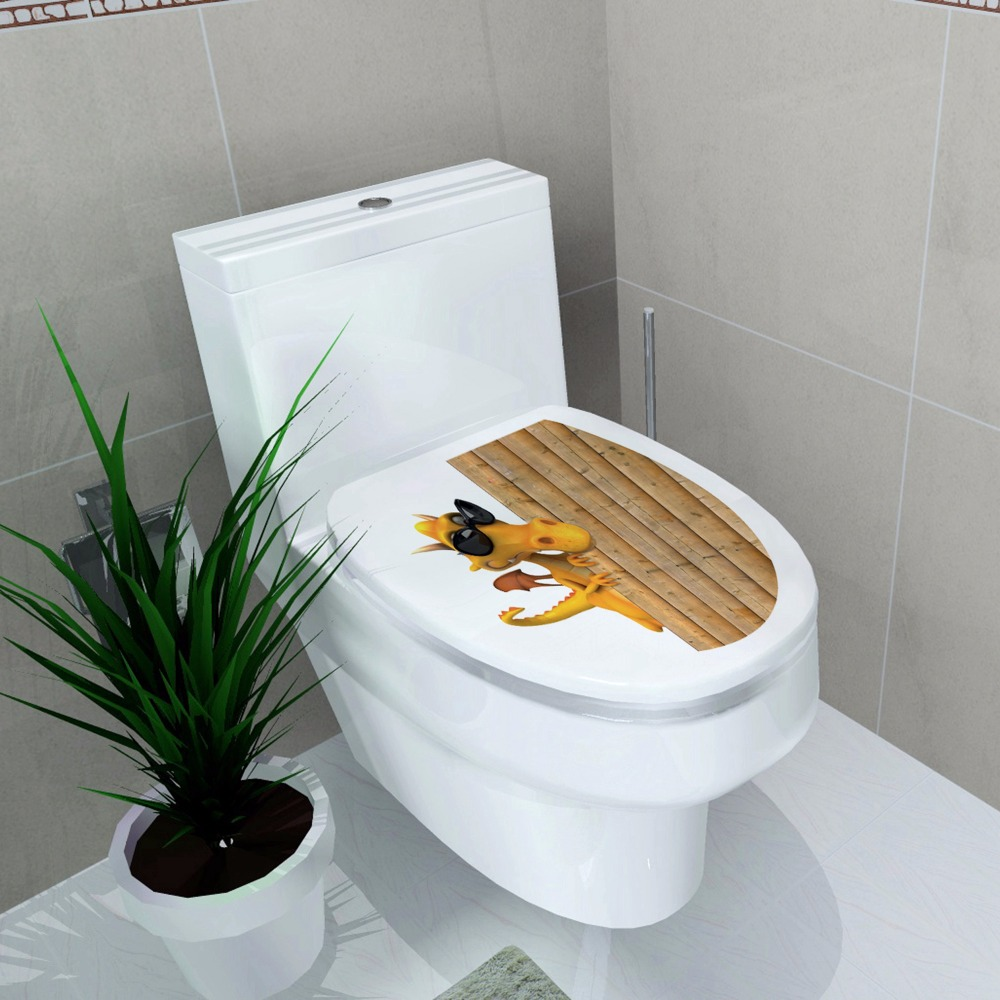 Toilet decoration Toilet cover Decal Waterproof Sticker Dragons with ...