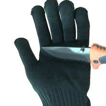 Прихватки для мангала доказательство Protect Проволока из нержавеющей стали Защитные перчатки с Металлической Сетки Мясник анти-резки дышащий рабочие Прихватки для мангала самозащитой