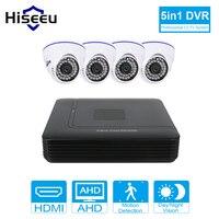 2 3 4CH 1200TVL CCTV KIT System HD 720P IR Dome Indoor CCTV Surveillance Home AHD