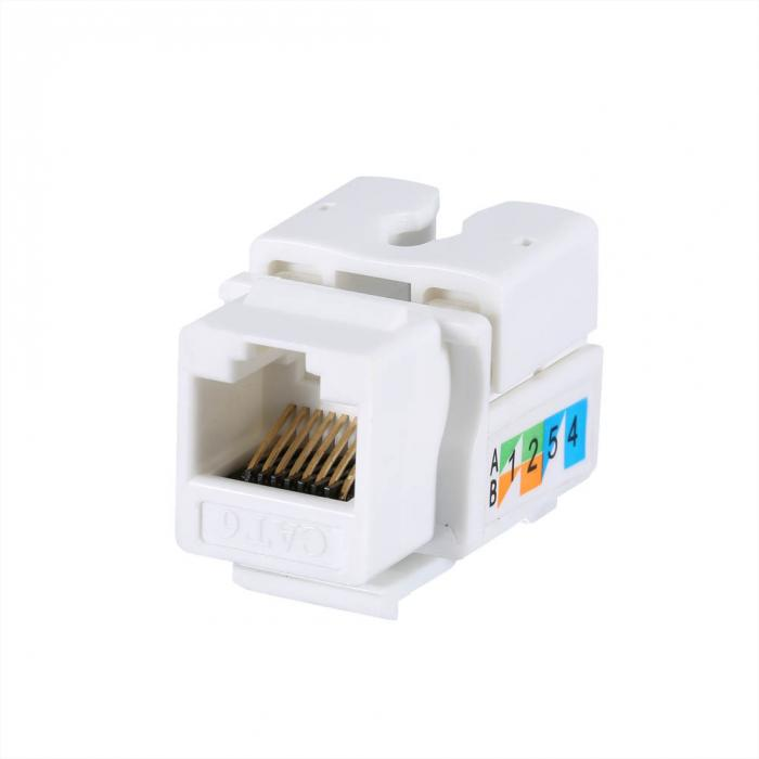 50Pcs/Lot Generic CAT6 RJ45 110 Punch Down Keystone Network Ethernet ...