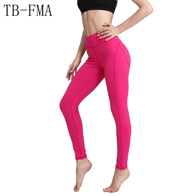 Yoga Pants Wide Waistband Quick Dry Workout Yoga Leggings Fitness Solid color Running Tights Push Hips Compression Sportswear
