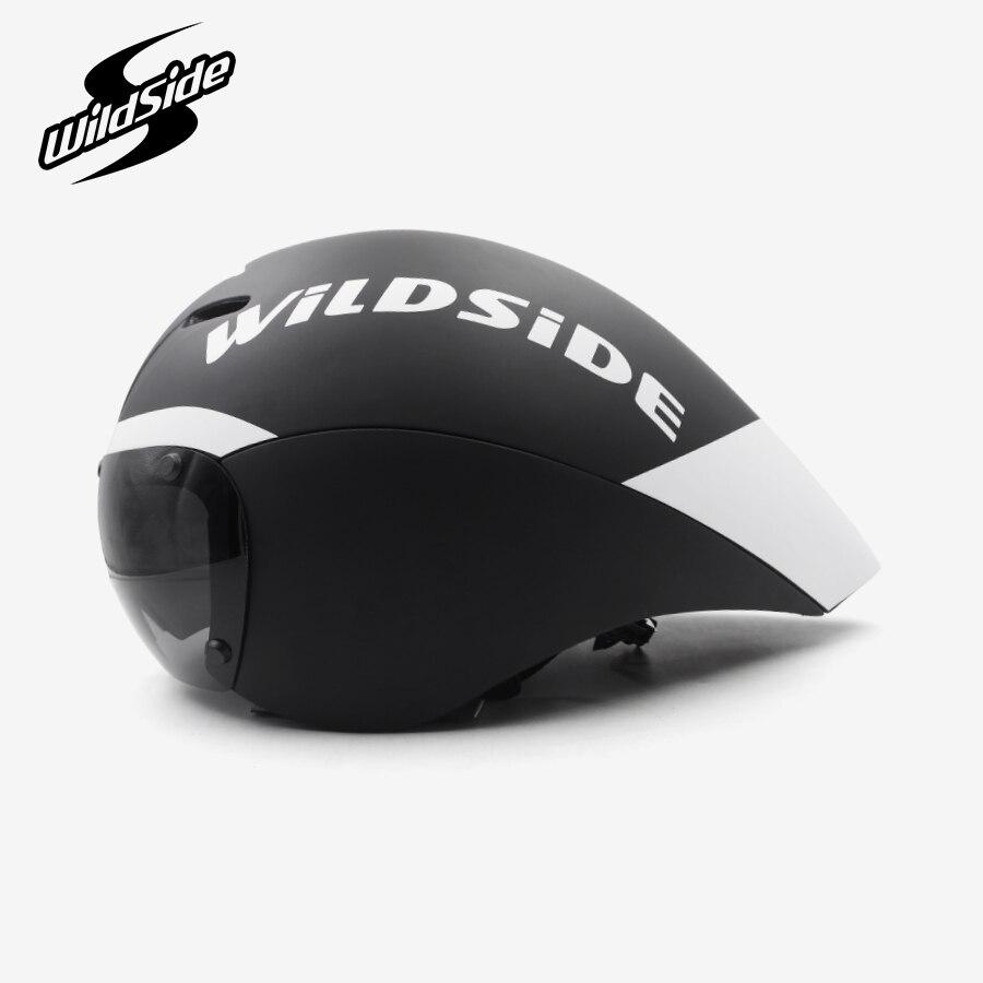 Gara tt casco da bicicletta occhiali lenti Triathlon tri aero casco della bici della strada timetrial casco della bicicletta Casco Ciclismo Accessori 2019