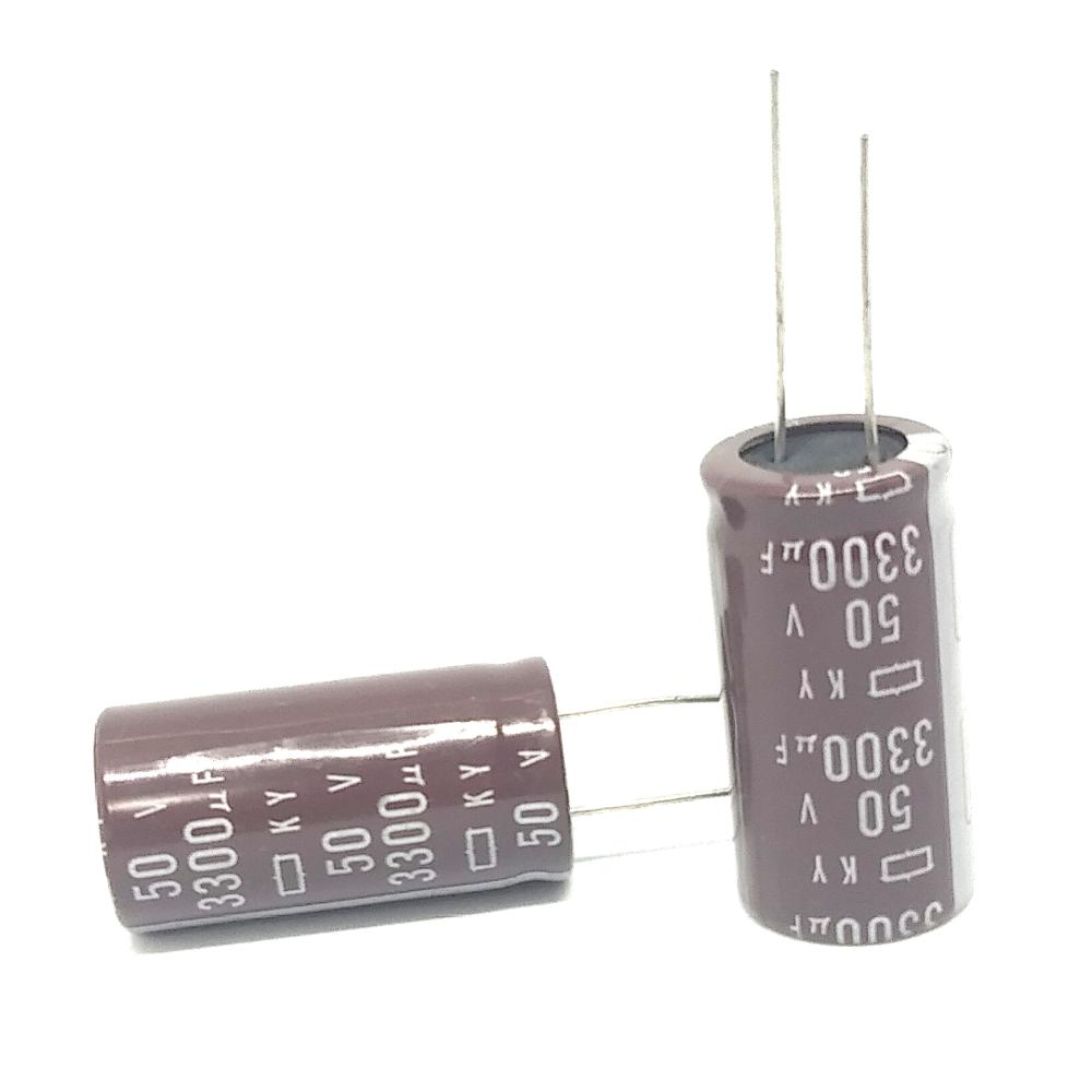 5PCS/LOT New Original aluminum electrolytic capacitor <font><b>50V</b></font> <font><b>3300UF</b></font> 18*35MM <font><b>3300UF</b></font> <font><b>50V</b></font> KY IC image