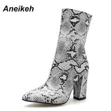 Woman Boots Print Snake Koop Goedkope Woman Boots Print