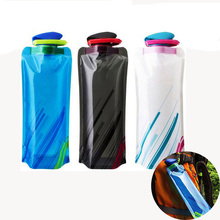 700ml Sport Collapsible Water Bottle Plastic Travel Outdoor Portable Flexible Reusable Foldable Drink