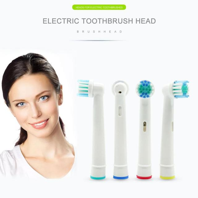 Electric Toothbrush Tooth cleaner Whitening Health Heads Replacement Soft-bristled For Oral 3D 4pcs/Set CW29
