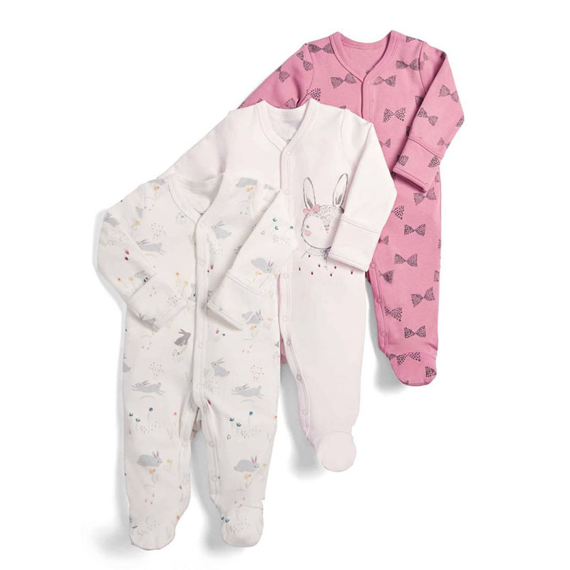 3Pcs/Pack Baby Cotton Clothes Set Newborn   Rompers   Infant Long Sleeve cartoon Jumpsuit Baby Boys Girls Sleepsuit 0-12Months