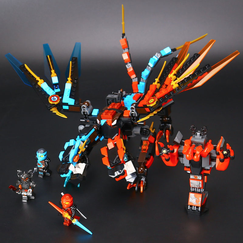 LEPIN Ninja ice fire double tame dragon legoing 06048 Building Blocks Bricks educational toys for children gifts brinquedos