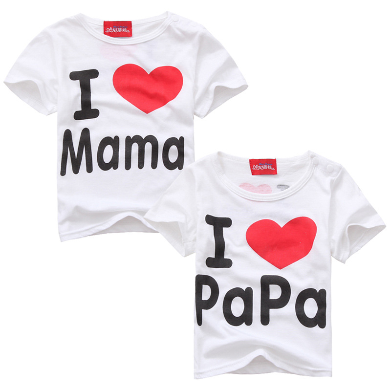 T Shirt I Love Papa Mama Children's Clothing t-shirt children t-shirts for girls boys Tops Kids boy girl clothes free shipping mc9s12c64 mc9s12c64cfae 9s12c64 48 lqfp hcs12 100% new page 3