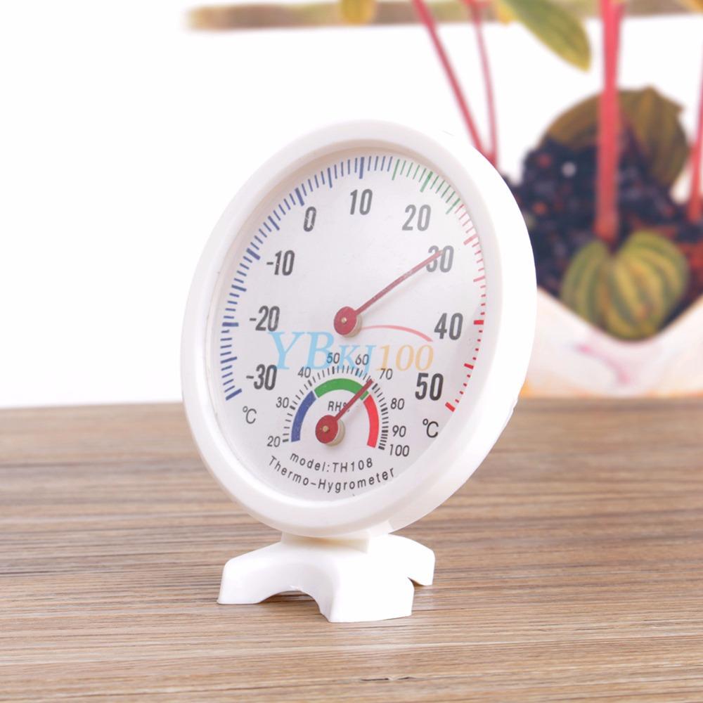 Vente chaude des ménages thermomètres utile utile bébé maison chambre ronde thermomètre humide hygromètre température mètre