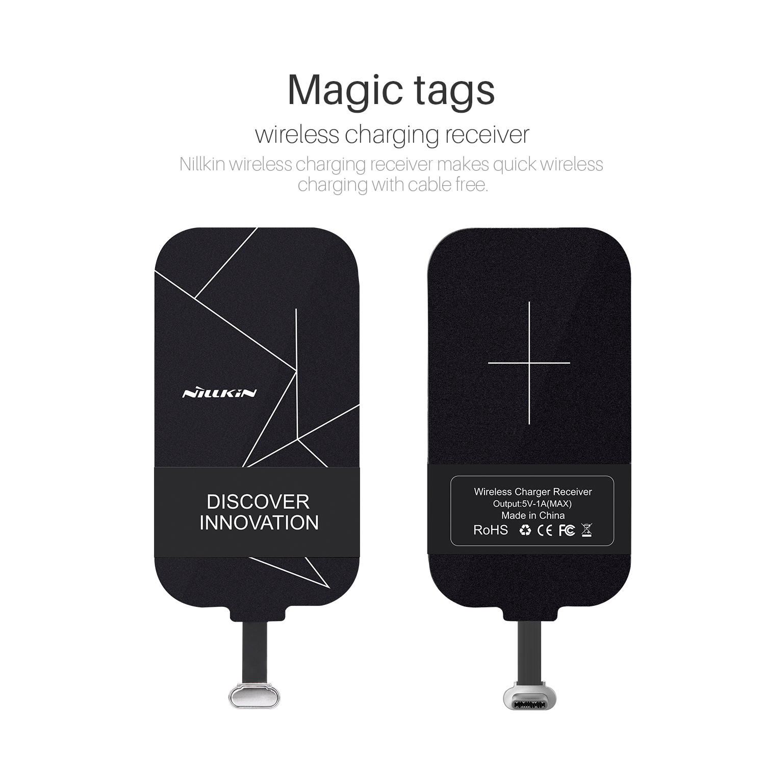 Nillkin Magic tags TYPE-C Wireless Charging Receiver for Oneplus 3/Huawei Honor 8/P9 Lite/Xiaomi Mi5/LG G5 Charger Coil Receiver