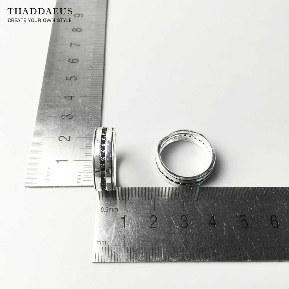 Band Ring Black Line Eternity,Thomas Style Soul Jewelry Good Jewerly For Men & Women,2017 Ts Gift In 925 Sterling Silver