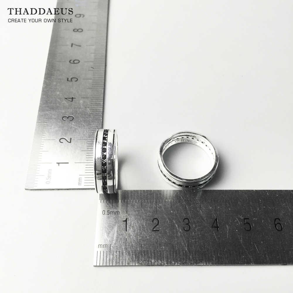 วงแหวนสีดำสาย Eternity, Thomas สไตล์ Soul เครื่องประดับดีเครื่องประดับสำหรับผู้ชายผู้หญิง, 2017 Ts ของขวัญ 925 เงินสเตอร์ลิง