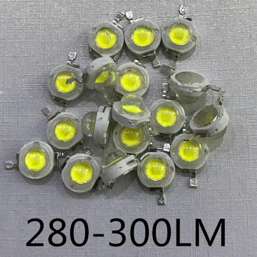 10PCS-1000PCS>> LED Cob Real 3W 50mli Chip 280LM 700MA High Power LED Lamp Beads White Warm 3w LED Lights For Blubs Spotlight