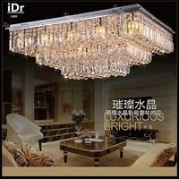new lamps modern minimalist LED crystal Bedroom lamp Hall Ceiling Lights living room bedroom  Upscale atmosphere L800xW600MM|Luzes de teto|Luzes e Iluminação -