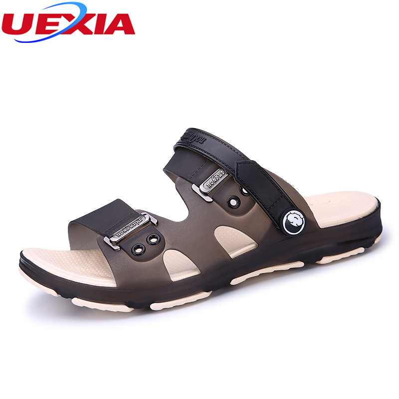 UEXIA New Design Arrival Sandal Men Shoes Men Sandals Slip on Beach Water Shoes for Man Slippers Casual Male Footwear Sandalias