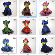 10 pieces cross stitch threads  cross stitch embroidery thread Custom threads colors 02 tanie tanio CN(Origin) Dyed 0 02 Polyester Cotton Mercerized Knitting Crochet Weaving Hand Knitting Sewing Other Spun Abrasion-Resistant