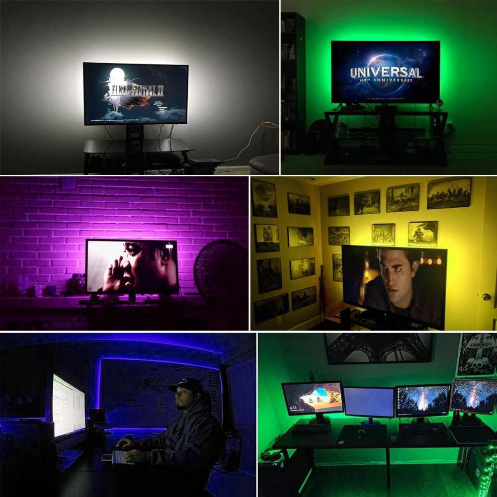 Светодиодный светильник для кухонной лампы 1 м 2 м 3 м 4 м 5 м RGB свет для шкафа шкаф для шкафа украшение дома светодиодный Диод тыловая подсветка