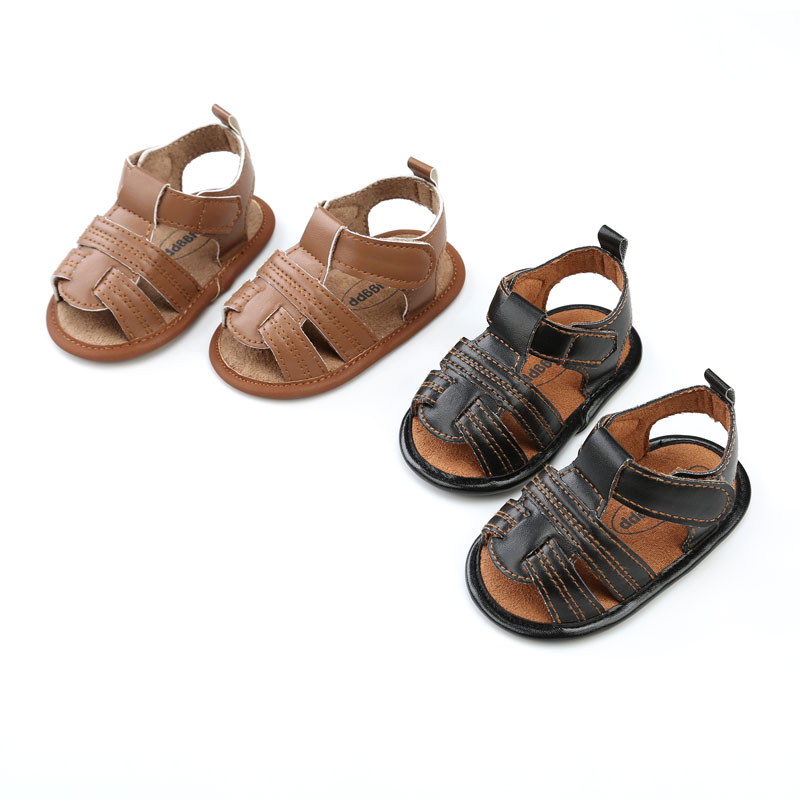 Fashion baby Summer Shoes PU leather Soft Beach Baby Boys shoes anti-slip Walker Child Shoes 0-18M Infantil Baby moccasins