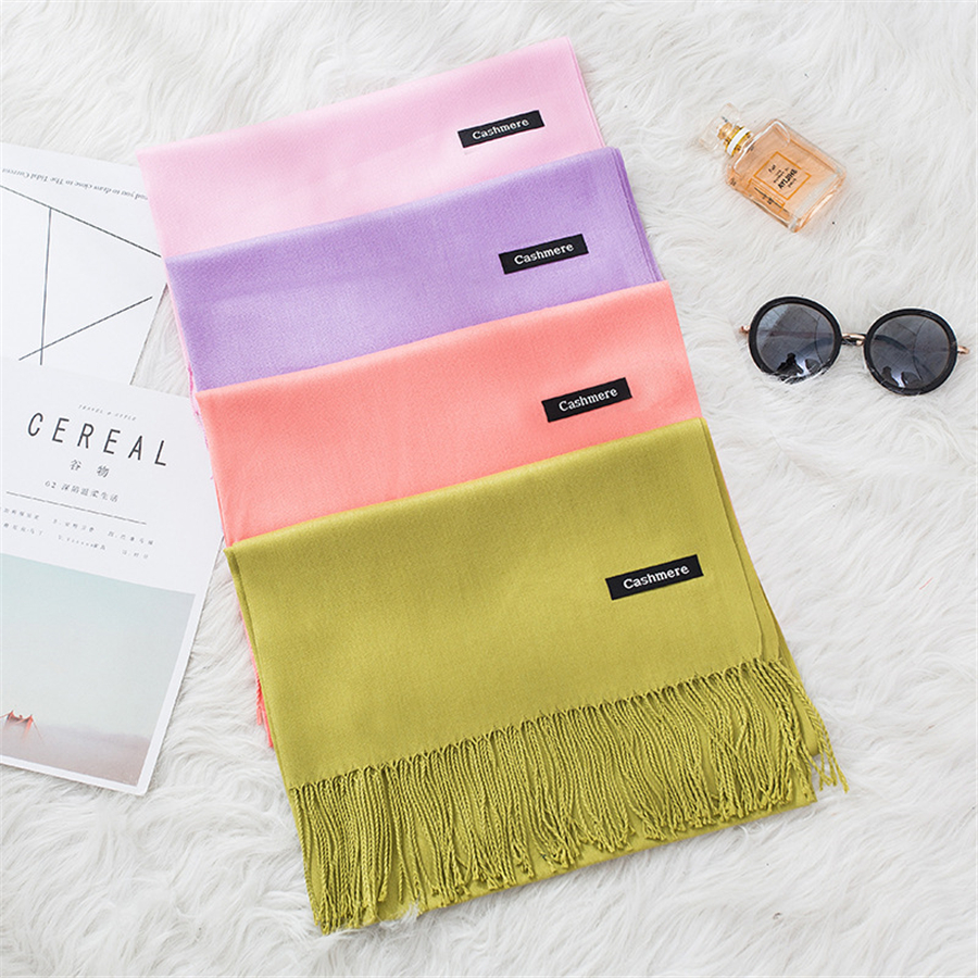35 Colors Spring/summer Fashion Scarves For Women Thin Shawls And Wraps Solid Female Hijab Stoles Cashmere Pashmina Foulard