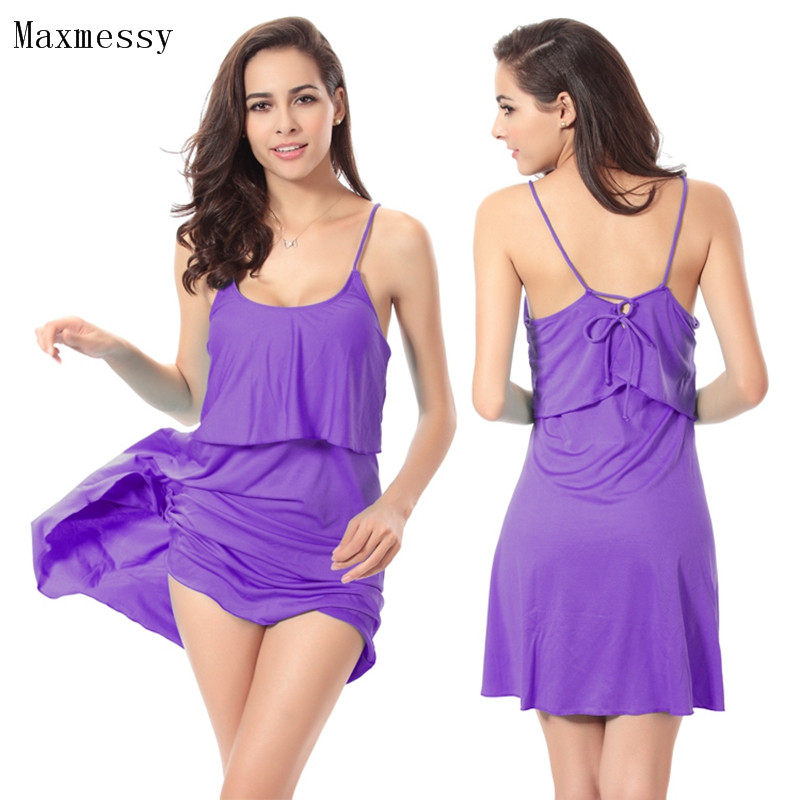 d1eac4c424d Maxmessy Swimming Cover Ups Braces Beach Dress Bikini Cover up Swimsuit  Holiday Beach Seaside Wear Strap