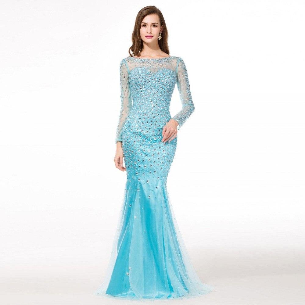 Popular Long Sleeve Mermaid Pageant Dress-Buy Cheap Long Sleeve ...