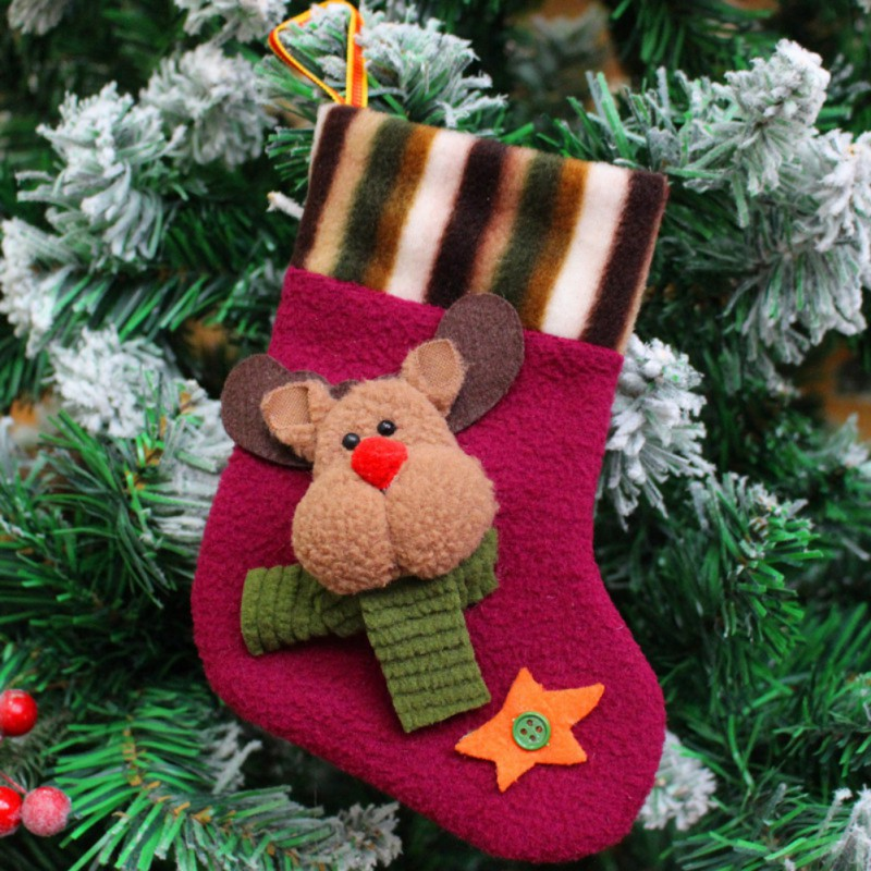 New Year Candy Bag Stocking Hanging Christmas Tree Decoration Christmas Ornament Mini Christams Stockings