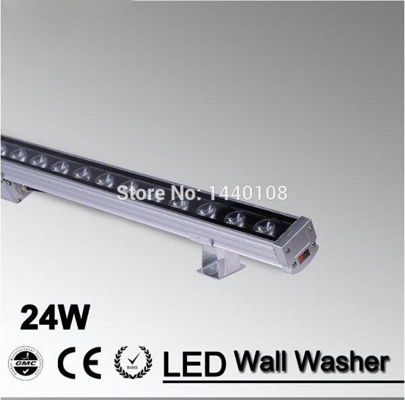 5pcs Wallwasher Linear LEVOU Arruela Da Parede Holofotes 24W AC85-265V Jardim Luz Com Controle Remoto de Iluminação Ao Ar Livre À Prova D' Água
