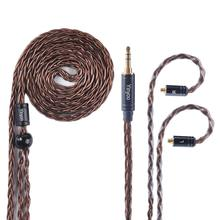 MMCX Earphone Cable  8 Core Silver Plated IEM Cable Upgrade Earphone Replacement  HiFi Headphone Cable for SE215 SE425 Fiio bgvp m1 apt x bluetooth v4 2 cable for mmcx earphones hifi 8 core occ silver plated cable with microphone for shure for ue