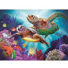 5d Diamond Painting Turtle Diy Embroidery Craft Mosaic Gift Animal Wall Arts Decor