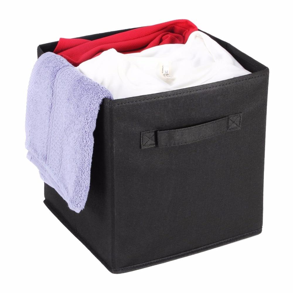 Closet storage bins and baskets - Fabric Cube Storage Bins Foldable Premium Quality Collapsible Baskets Closet Organizer Drawers