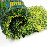 ULAND Artificial Privacy Fence Plants For The Garden 20X20 Plants Plastic Boxwood Hedges Mats DIY Garden Balcony Decorations