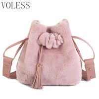 Tassel Tote Bags Women Luxury Fur Shoulder Bag Women Bags Designer High Quality Soft Bucket Crossbody