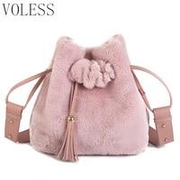 Tassel Tote Bags Women Luxury Fur Shoulder Bag Women Bags Designer High Quality Soft Bucket Crossbody