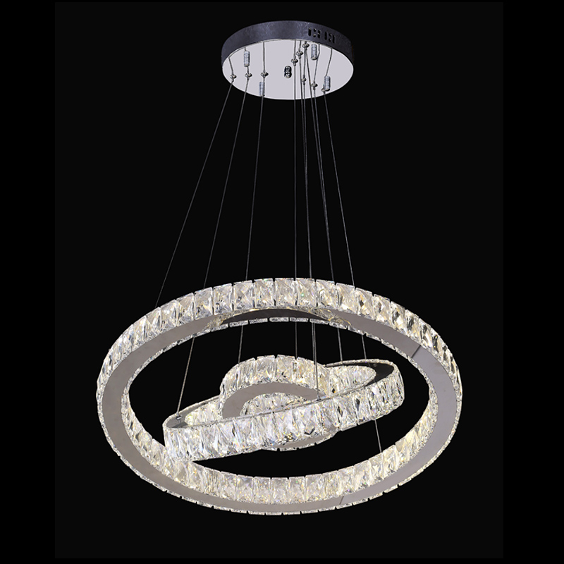 Modern Rings Crystal LED Ceiling Light Fixture LED Crystal Lighting for Stairs Staircase Hotel Villa Hallway Porch Lights