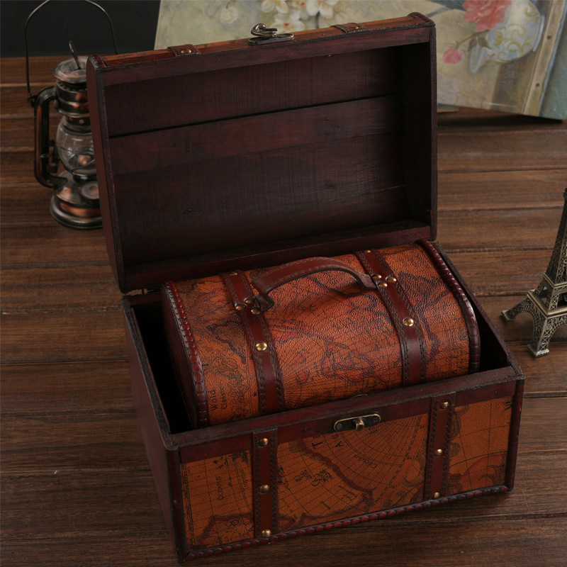 Wholesale selling three piece classical European retro wooden boxes wooden storage box creativity Antique Gallery