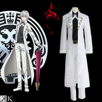 K Project K RETURN OF KINGS Isana Yashiro Uniform Cosplay Costume Full Set ( Trench coat + Shirt + Pants + Belt + Bow tie )