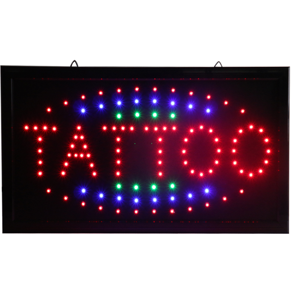 Chenxi Tattoo Store Neon Open Signs Flashing Led Tattoo Spa Beauty Shop Business Led Advertising Indoor 19*10 Inch.
