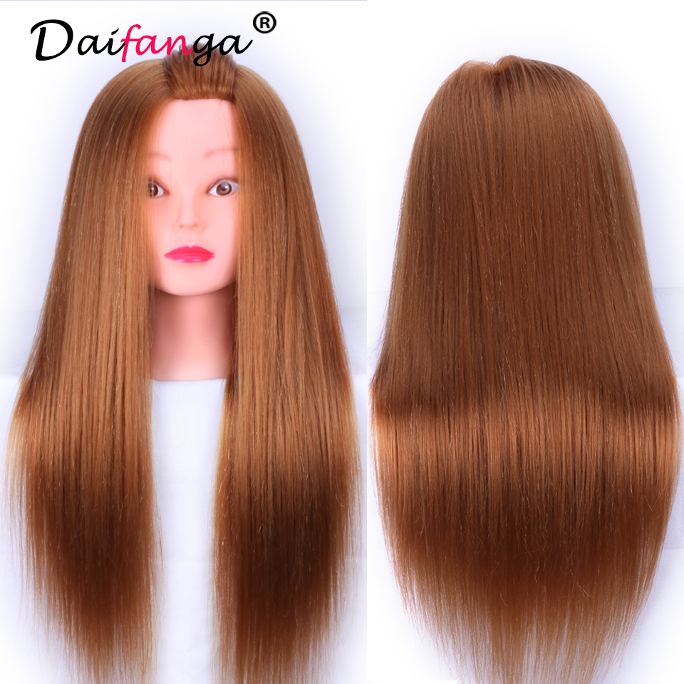 70% Real Human Hair Mannequin Heads Hairdressing Training Practice Head Hair Styling Mannequins Doll Heads with Free Clamp
