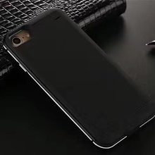 2017 Newest Metal frame External 4000 mah/5000mAh Battery Charger phone Cover For iPhone IP7/iPhone7 plus Backup Power Bank Case