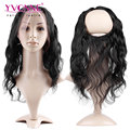 "YVONNE 360 Lace Frontal with Elastic Band,100% Virgin Brazilian Body Wave Lace Frontal Closure,Size 13.5""x4"""