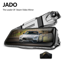 JADO D820s X1 Fluxo de Espelho Retrovisor Do Carro Dvr traço Camera avtoregistrator 10 IPS Touch Screen Full HD 1080 P Car recorder cam traço